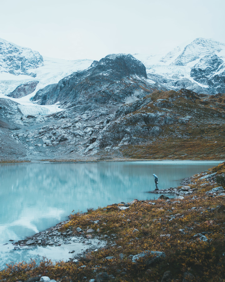 GLACIAL LAKE - fotokunst von Fabian Heigel