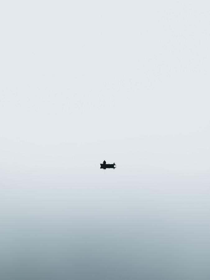 Der einsame Fischer - fotokunst von Frithjof Hamacher