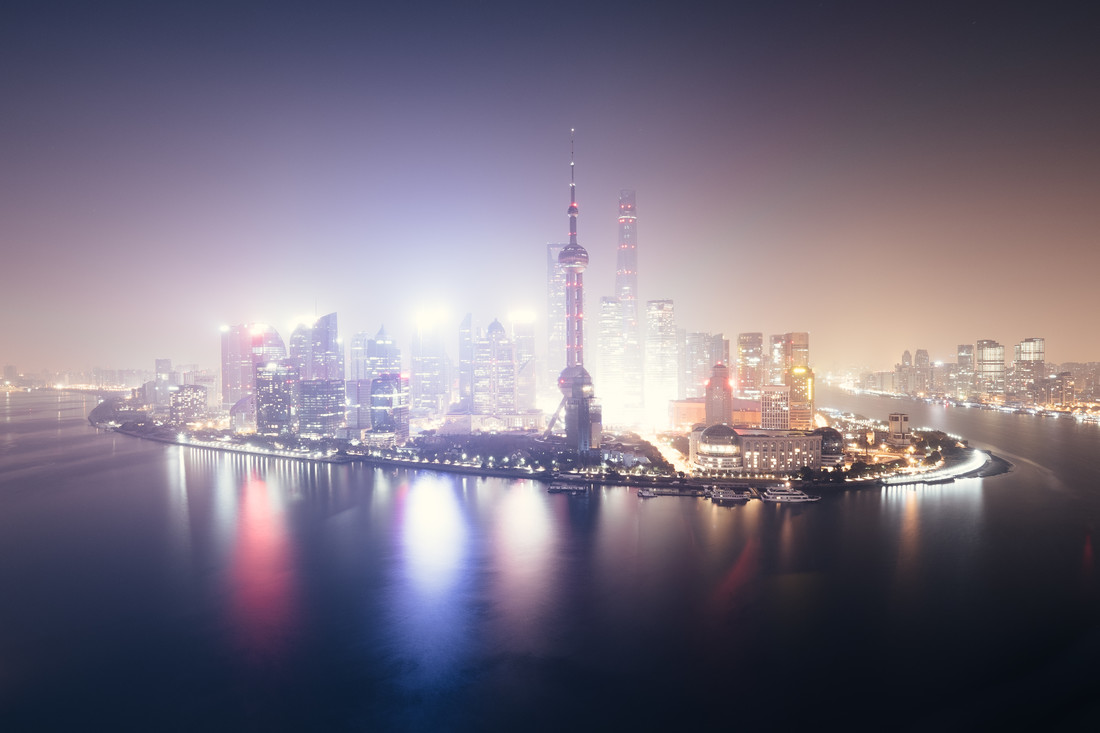 PUDONG LIGHTS - Fineart photography by Roman Becker