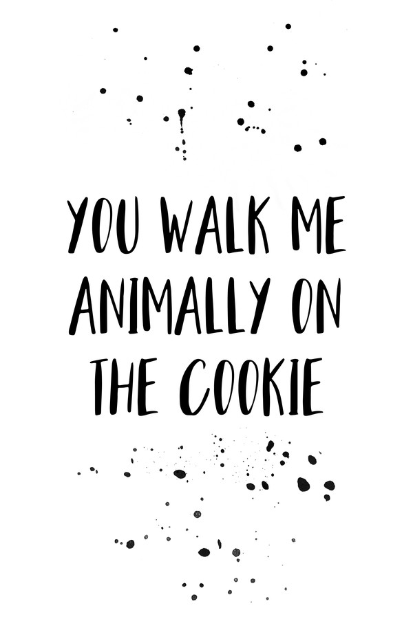 Denglisch YOU WALK ME ANIMALLY ON THE COOKIE - fotokunst von Melanie Viola