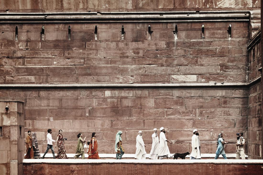 To the Red Fort - fotokunst von Rob van Kessel