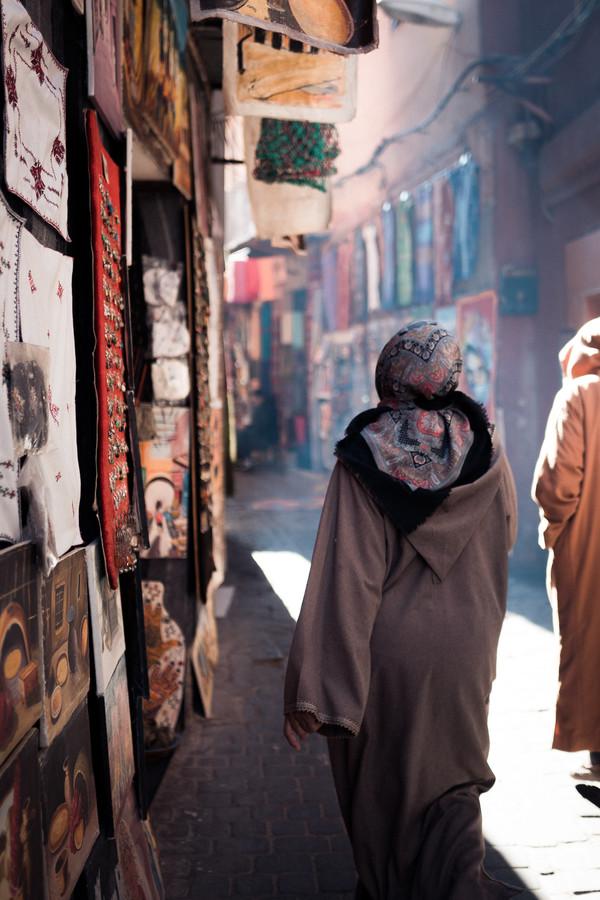 streets of marrakesh - fotokunst von Thomas Christian Keller