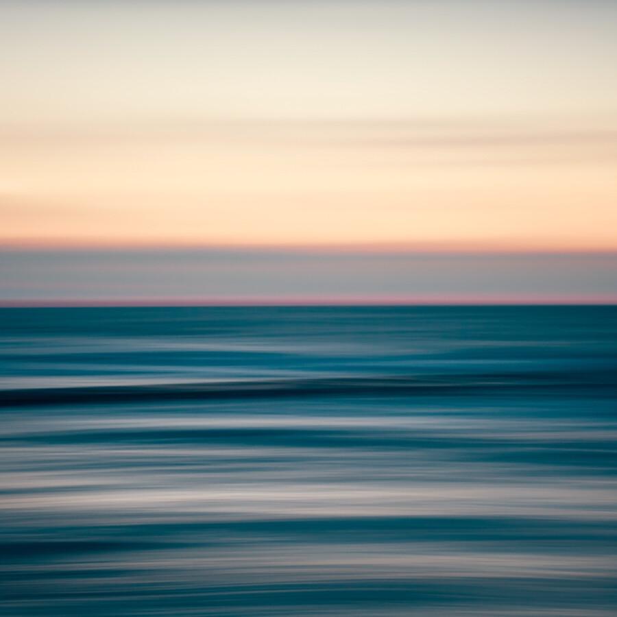 Sunset at the sea - fotokunst von Holger Nimtz