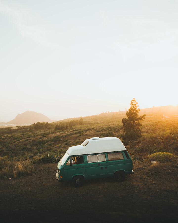 SUNSET CAMPER - fotokunst von Fabian Heigel