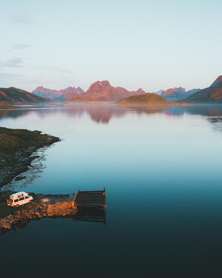 CAMPING IN NORWAY - fotokunst von Fabian Heigel