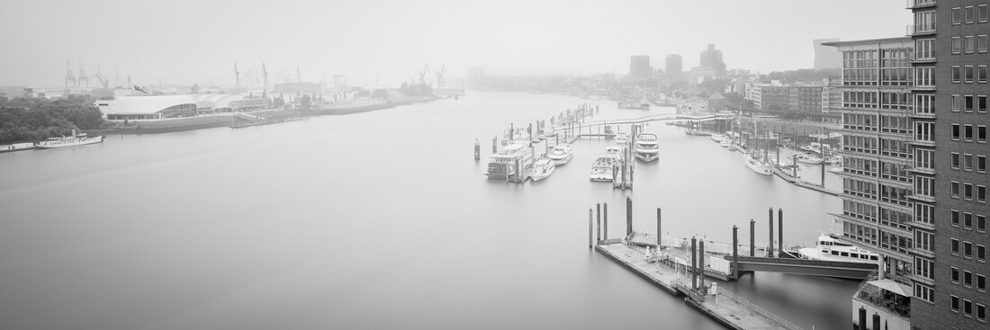 Panoramic view Hamburg harbour from the  Elbphilharmonie Plaza - Fineart photography by Dennis Wehrmann
