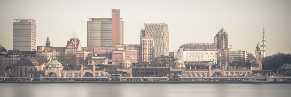 Hamburg Skyline - Landungsbruecken - Fineart photography by Dennis Wehrmann