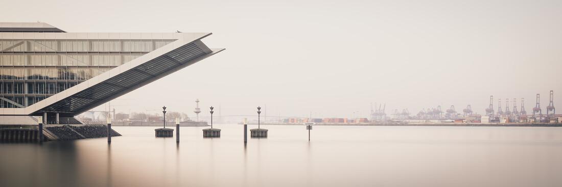 Sunrise Dockland Hamburg harbour - Fineart photography by Dennis Wehrmann