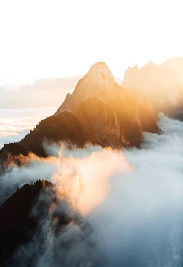 Golden hour in the Alps - Fineart photography by Marina Weishaupt