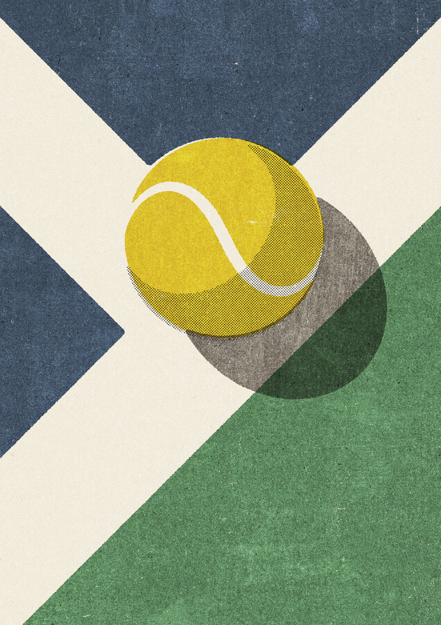 BALLS Tennis Hartplatz - fotokunst von Daniel Coulmann