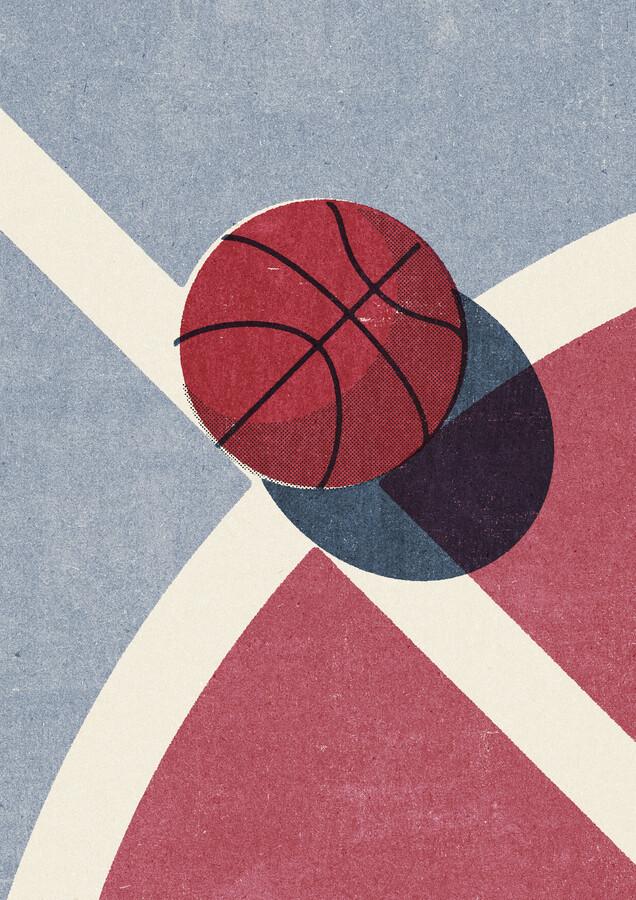 BALLS Basketball Strasse - fotokunst von Daniel Coulmann