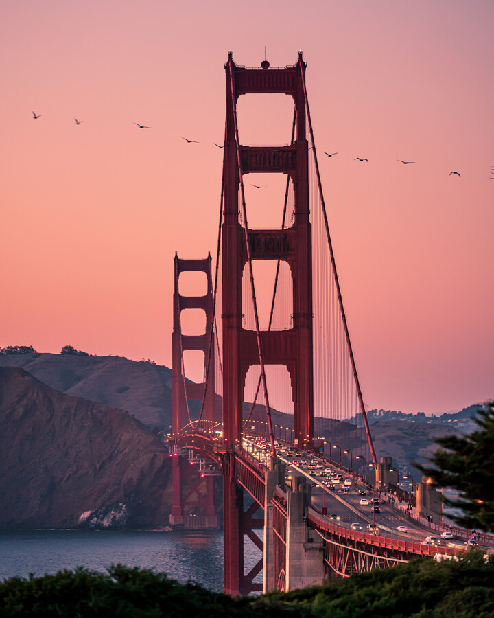 Golden Gate Bridge - fotokunst von Dimitri Luft