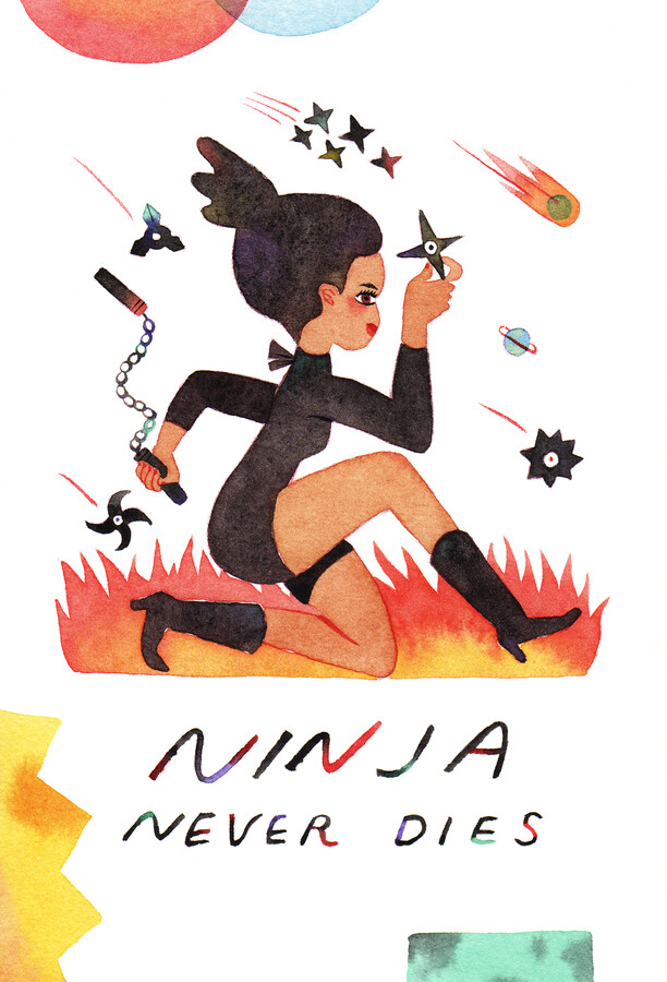 Ninja Never Dies - fotokunst von Rumi Hara
