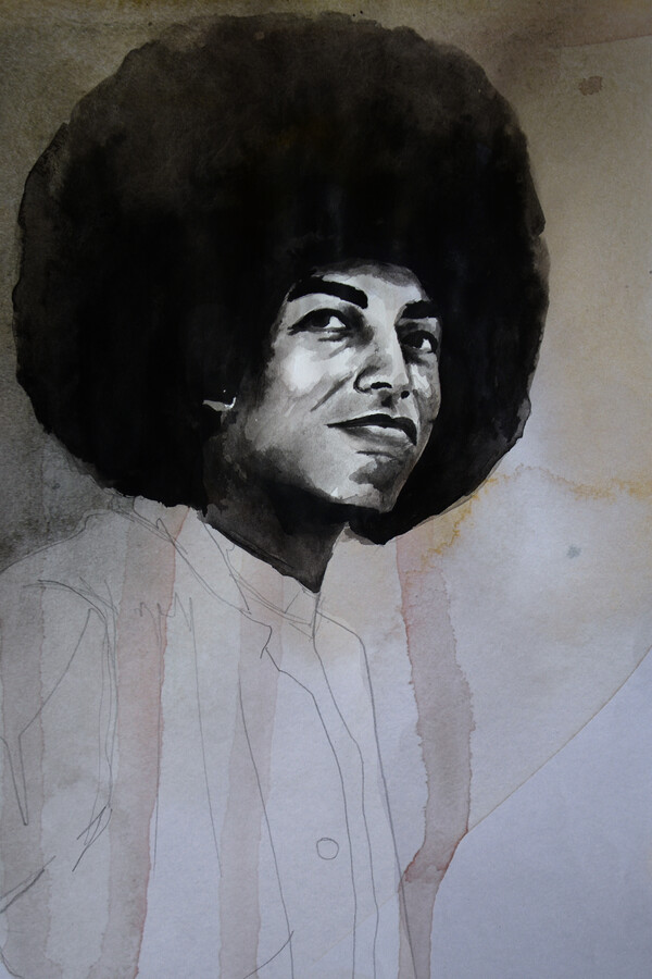 Angela Davis - Fineart photography by David Diehl