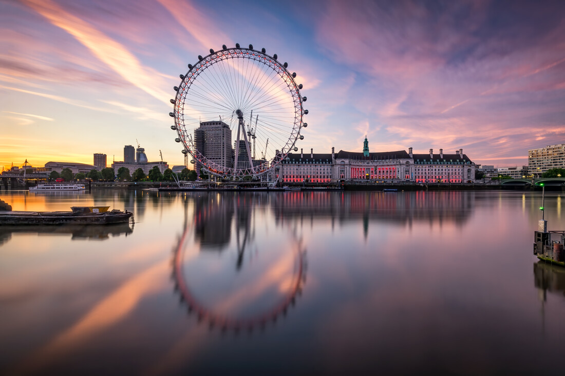 London Eye am Ufer der Themse - fotokunst von Jan Becke