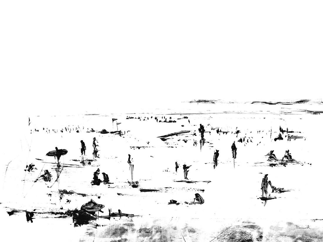 Beach Day - fotokunst von Dan Hobday