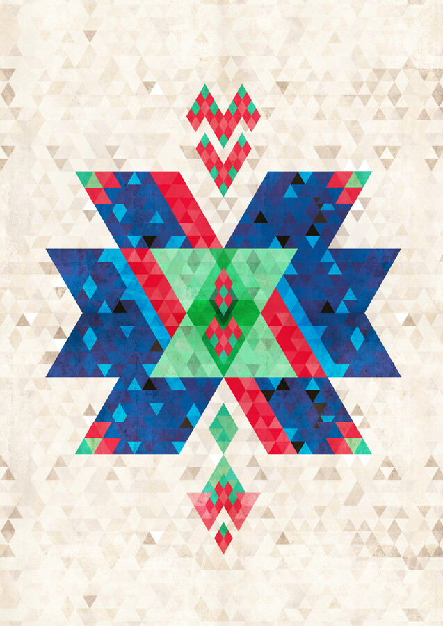 Bohemian Kilim Cross - Fineart photography by Pia Kolle