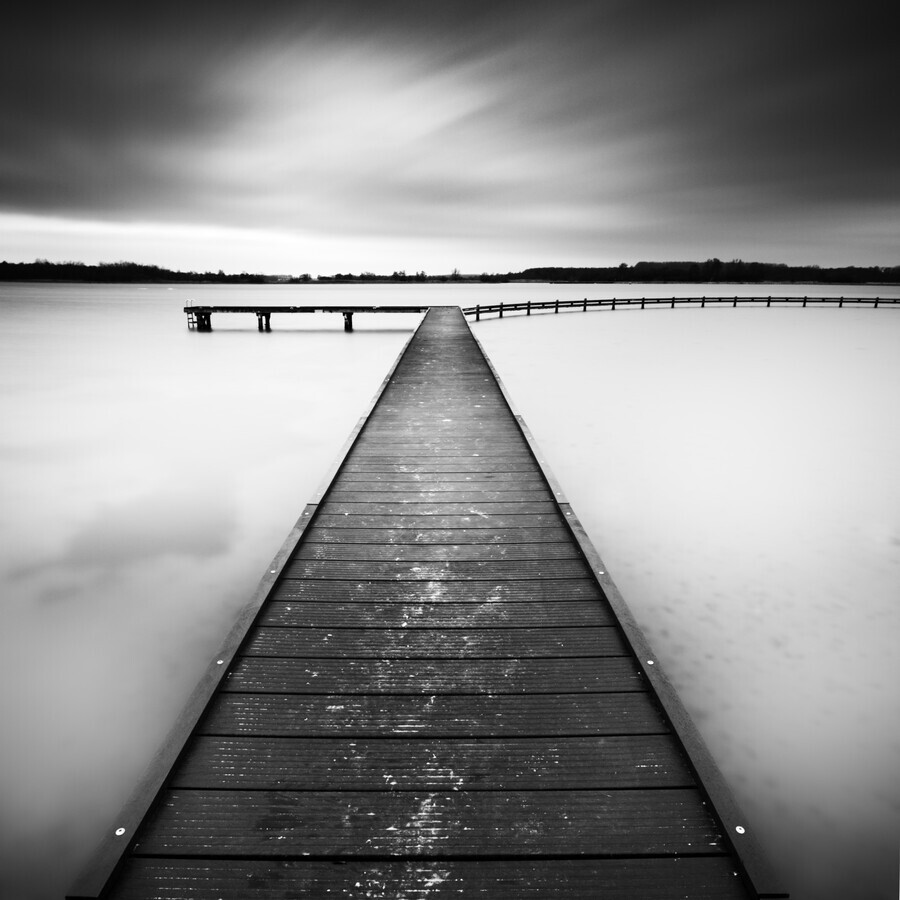 Pier at the Veerse Meer - Fineart photography by Stephan Opitz