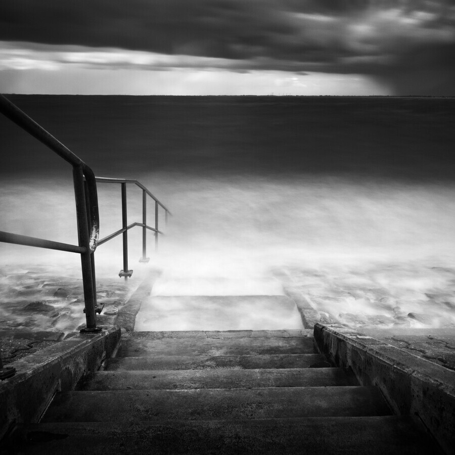 Stairs into the water - Fineart photography by Stephan Opitz