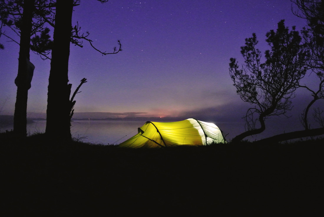 glowing tent - Fineart photography by Christian Kluge
