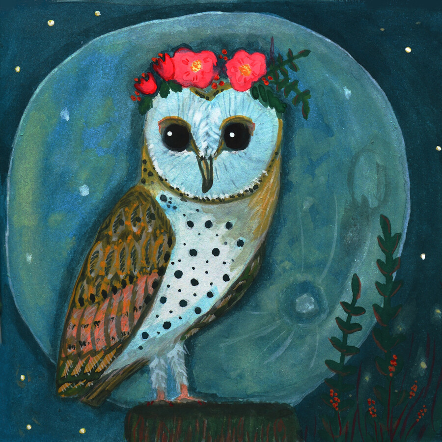 Owl by Night - Fineart photography by Anita Letuve