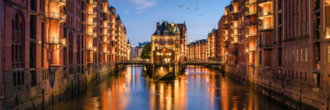 The Wasserschloss in the Speicherstadt in Hamburg - Fineart photography by Jan Becke