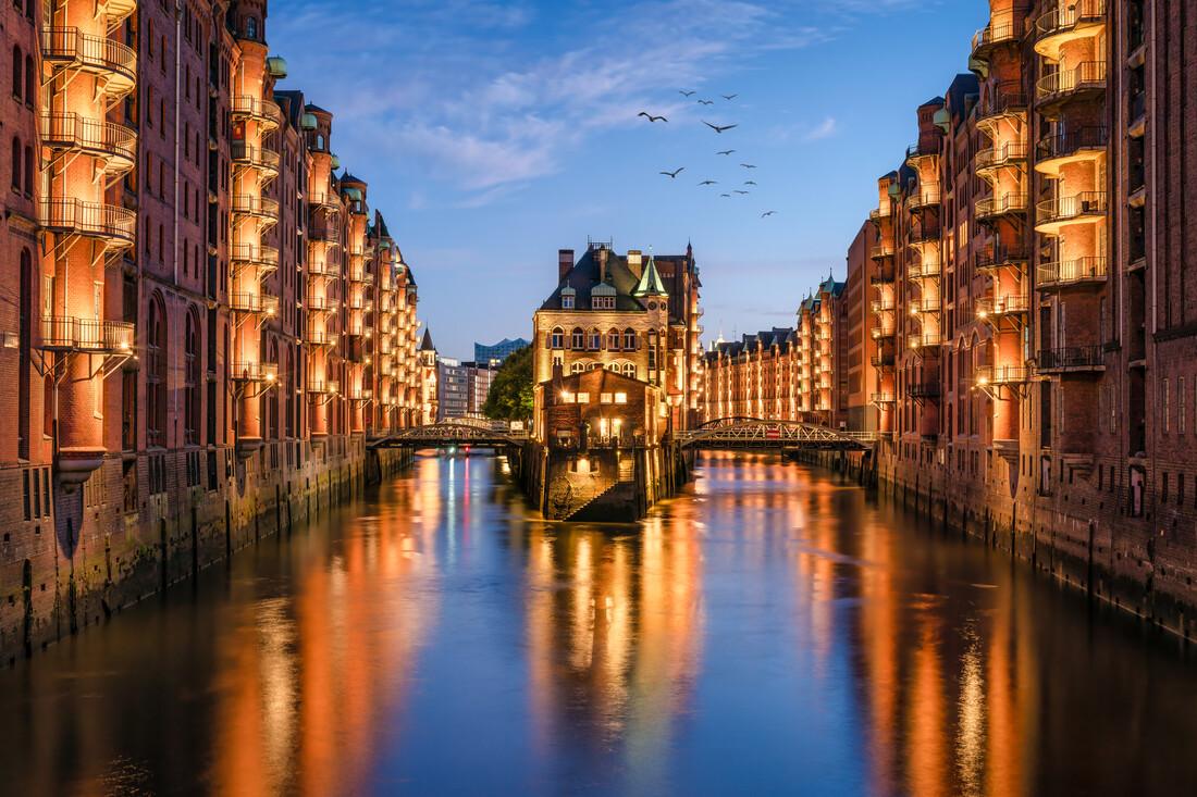 Water castle in the Speicherstadt Hamburg - Fineart photography by Jan Becke