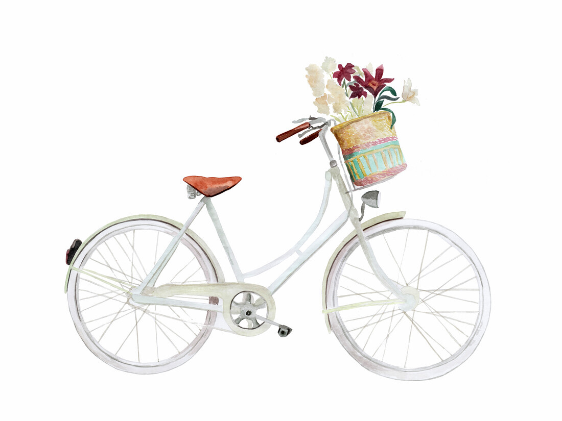 Flower Bike - fotokunst von Christina Wolff