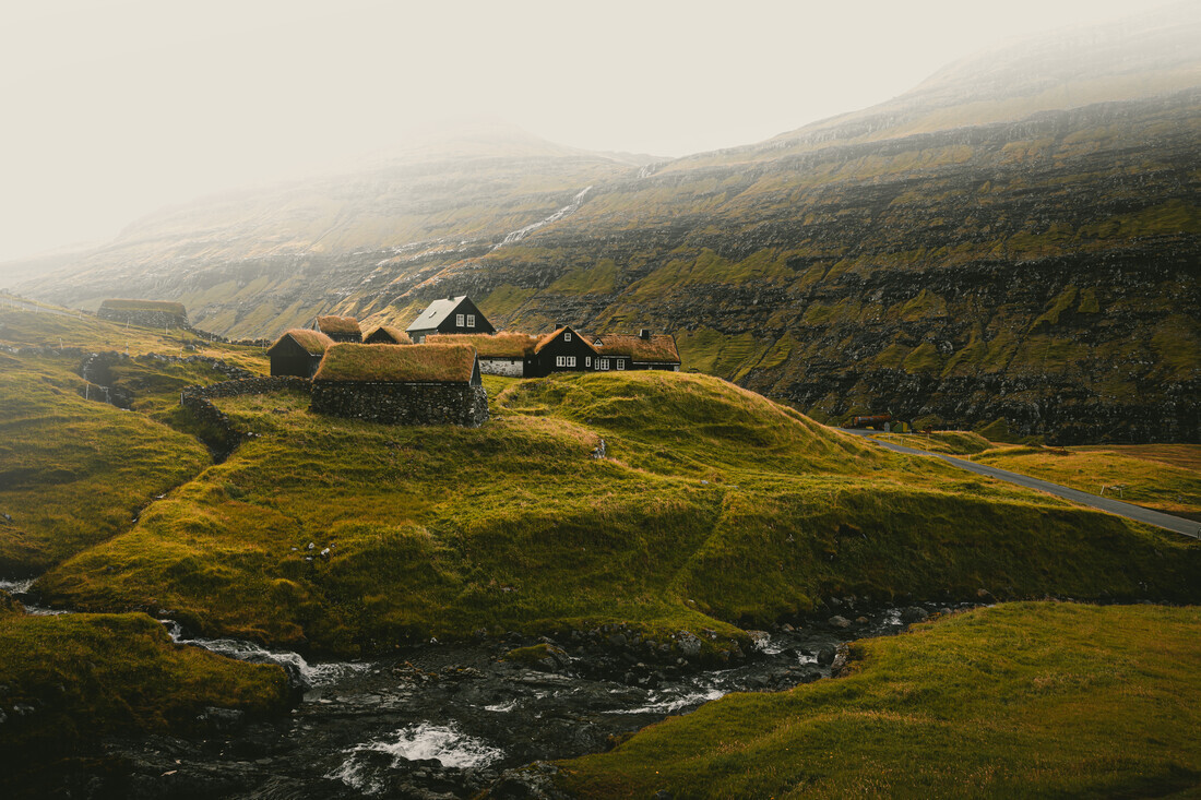 Saksun, Färöer - fotokunst von Eva Stadler