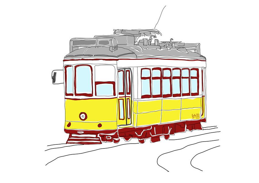 Lissabon - fotokunst von Julia Feller