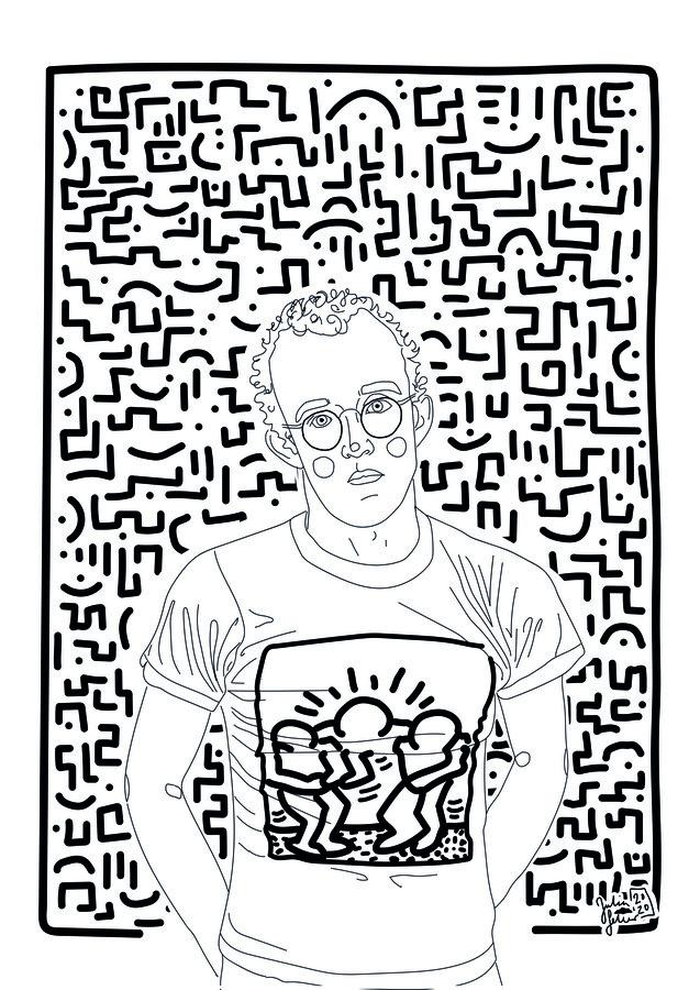 Keith Haring - fotokunst von Julia Feller