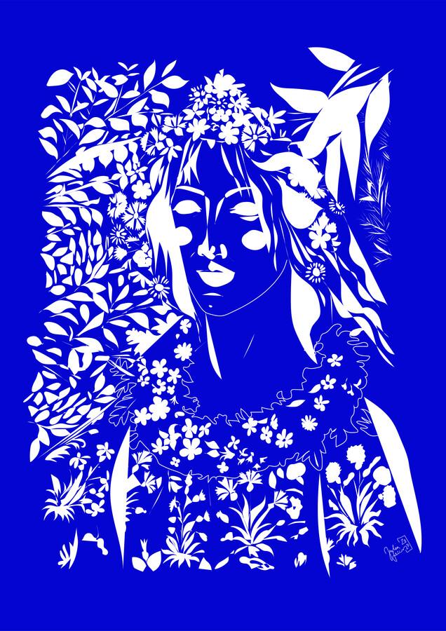 Blauer Frühling - fotokunst von Julia Feller
