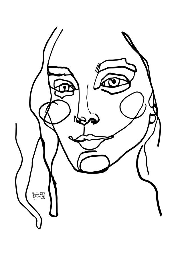Face - fotokunst von Julia Feller