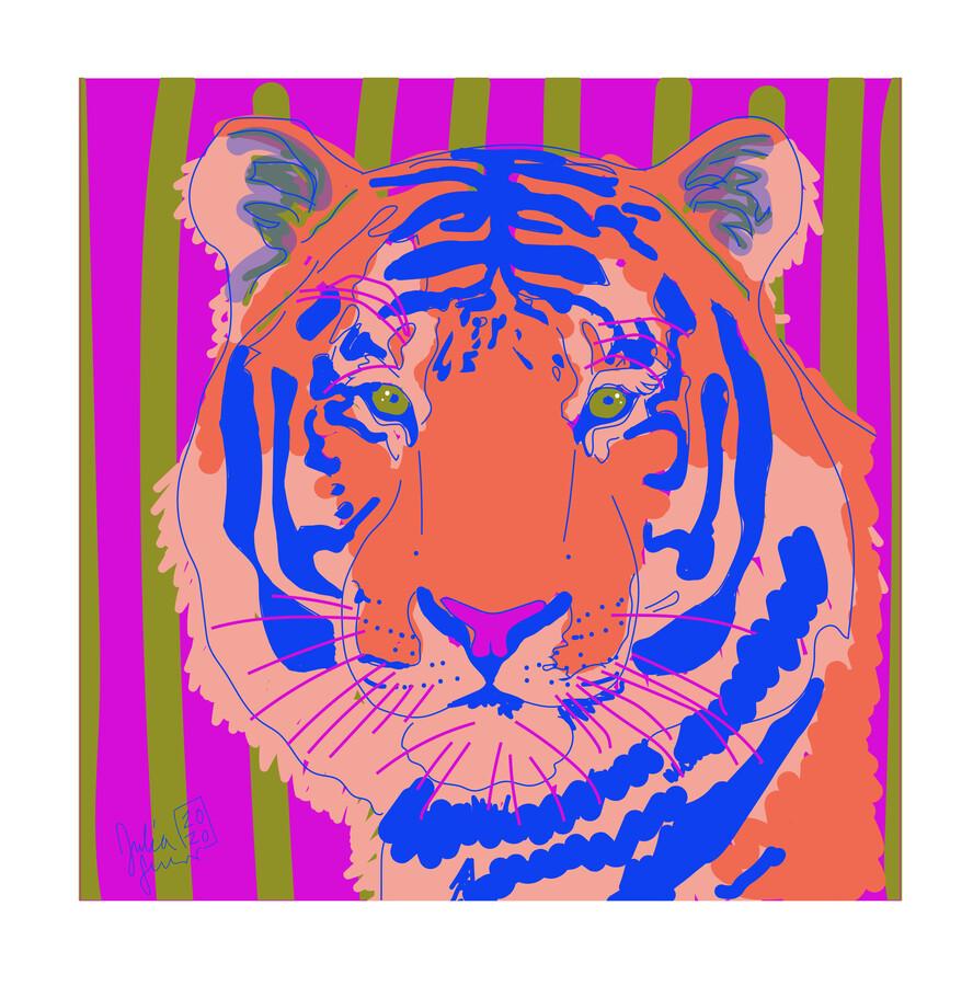 Tiger - fotokunst von Julia Feller