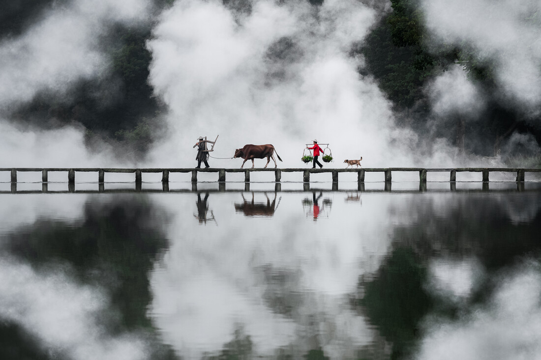 Bridge Crossing - Fineart photography by AJ Schokora