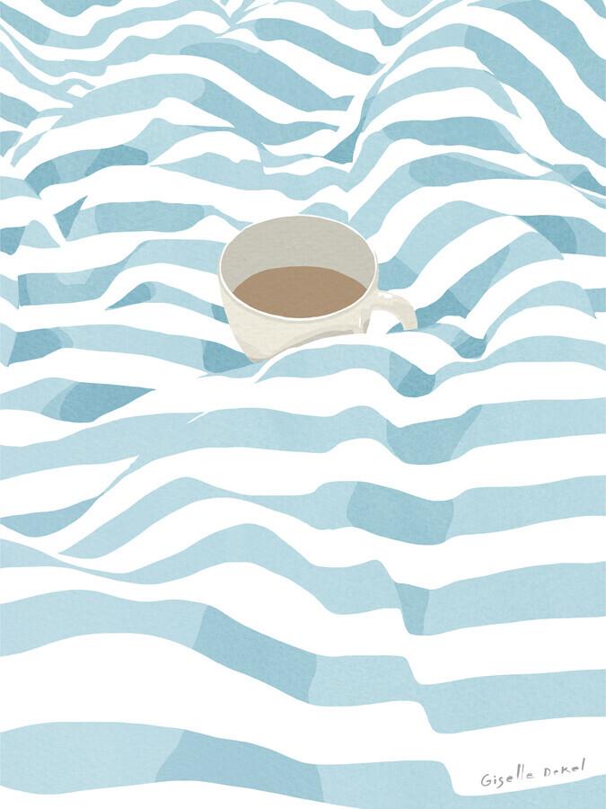 Coffee in Bed - fotokunst von Giselle Dekel