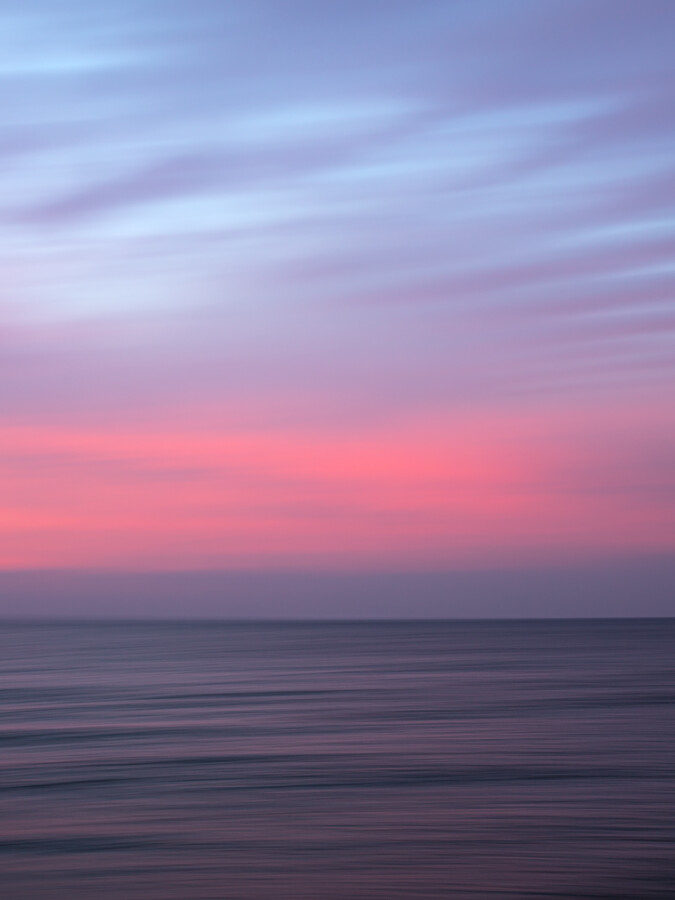 Sunset at the Baltic Sea - fotokunst von Holger Nimtz