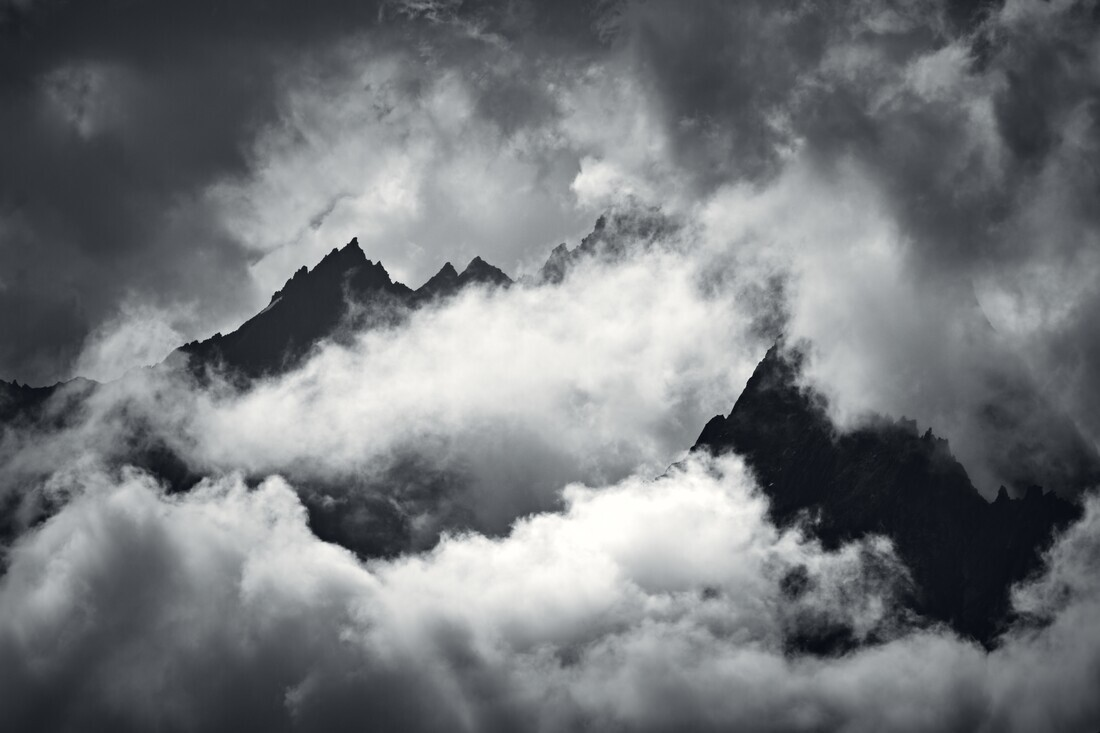 Cloudy Mountain Peaks - Fineart photography by Alex Wesche