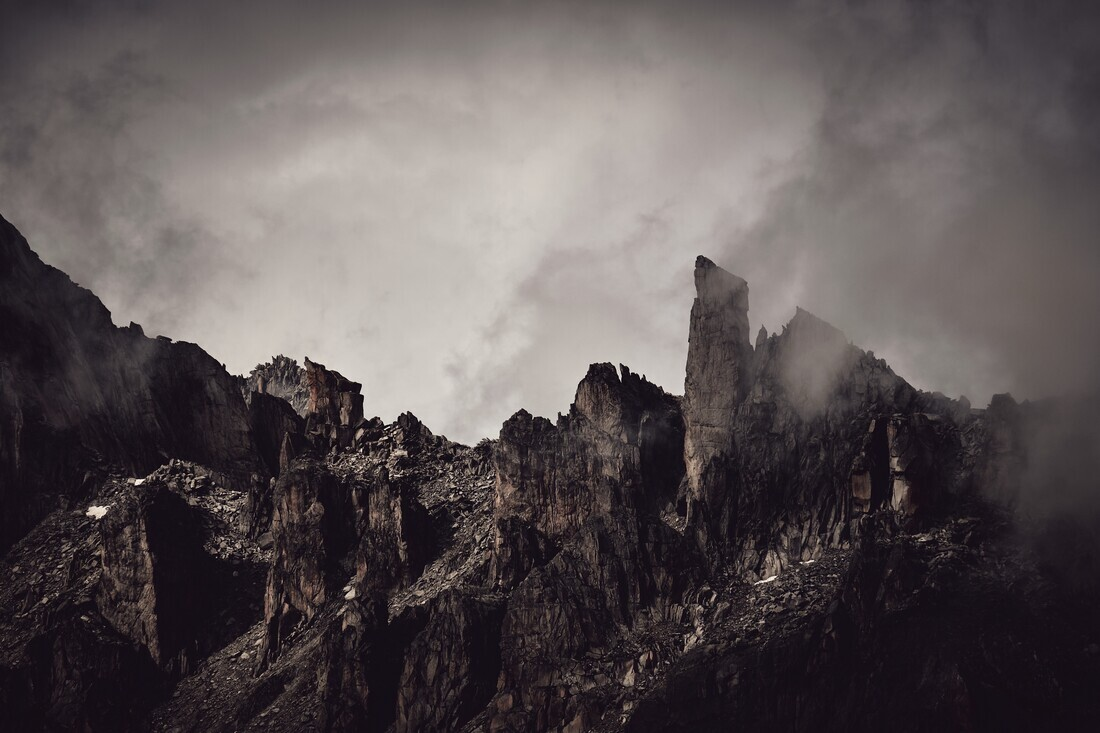 Moody Mountain Range - Fineart photography by Alex Wesche