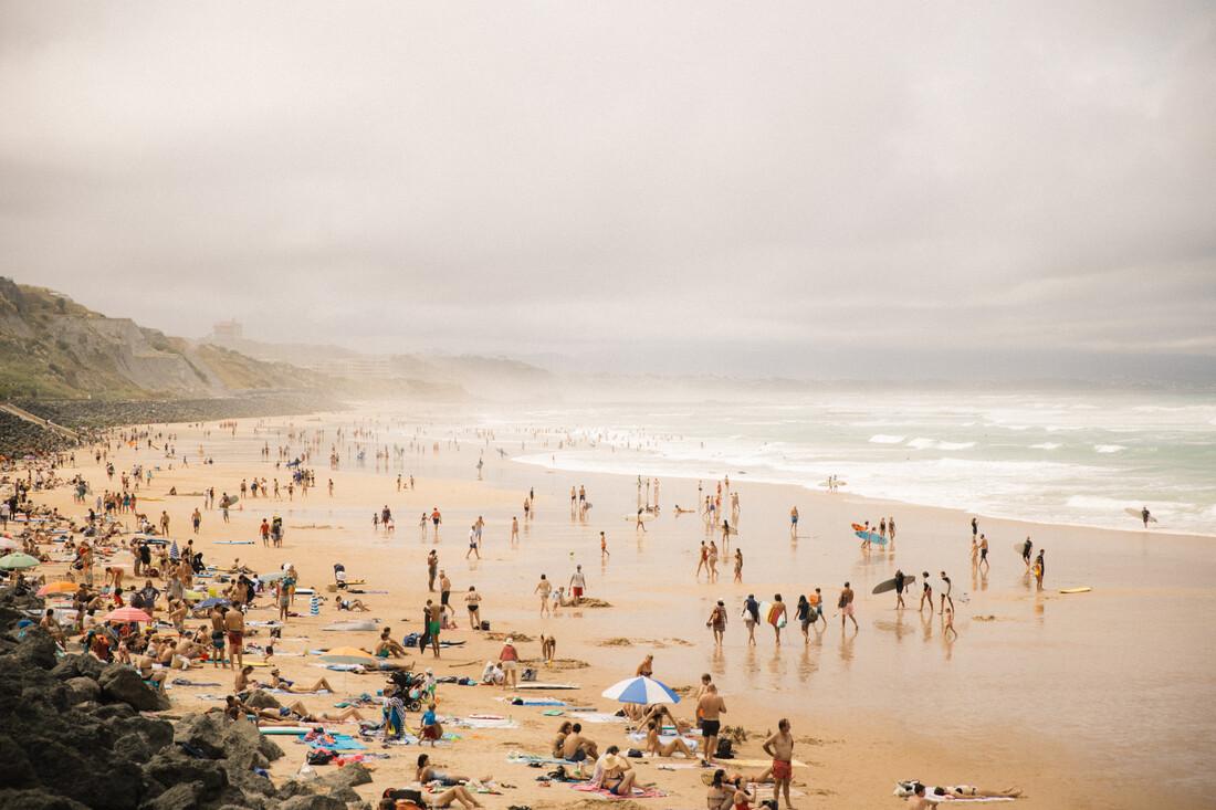 BIARRITZ BEACH - fotokunst von Fabian Heigel