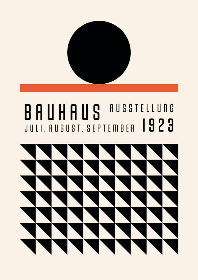 Bauhaus Exhibition Poster Weimar - Fineart photography by Bauhaus Collection