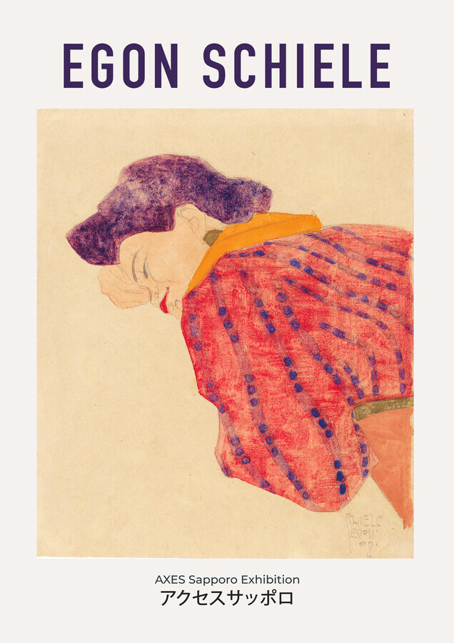 Egon Schiele - AXES Sapporo Exhibition - fotokunst von Art Classics