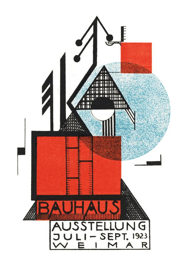Bauhaus Austellung Weimar 1923 (weiß) - fotokunst von Bauhaus Collection