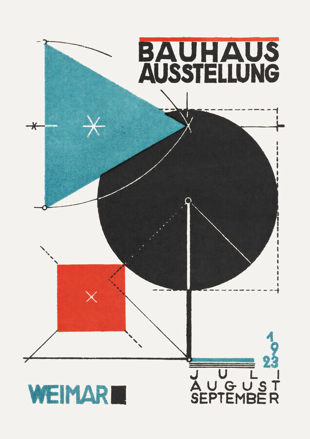 Bauhaus Austellung Weimar 1923 (sepia) - fotokunst von Bauhaus Collection