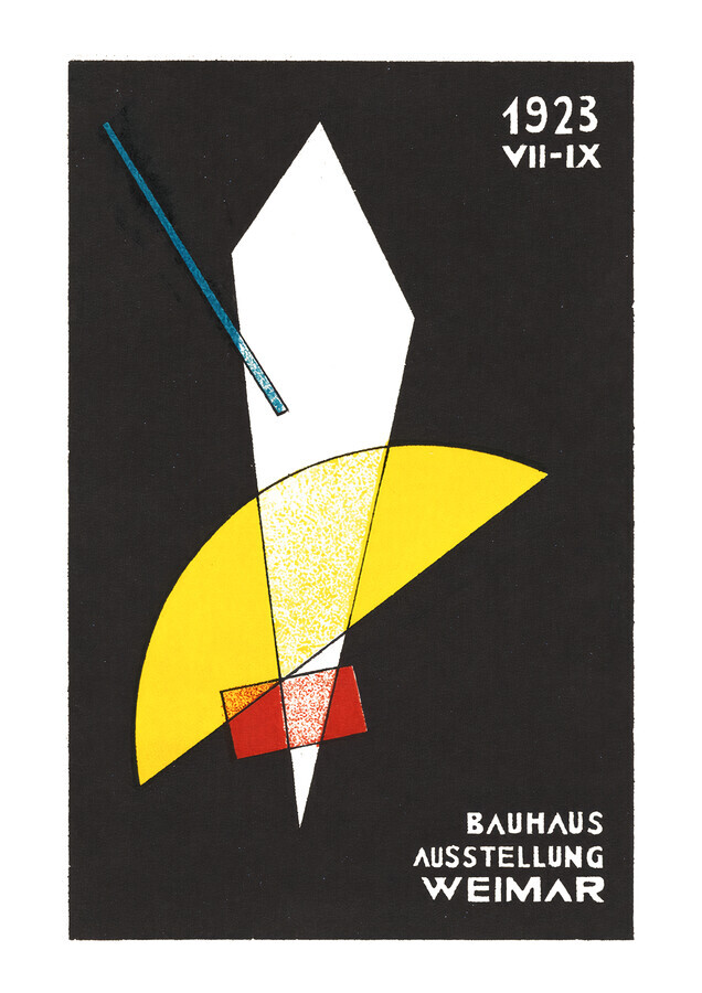 Bauhaus Exhibition Poster 1923 (white) - Fineart photography by Bauhaus Collection
