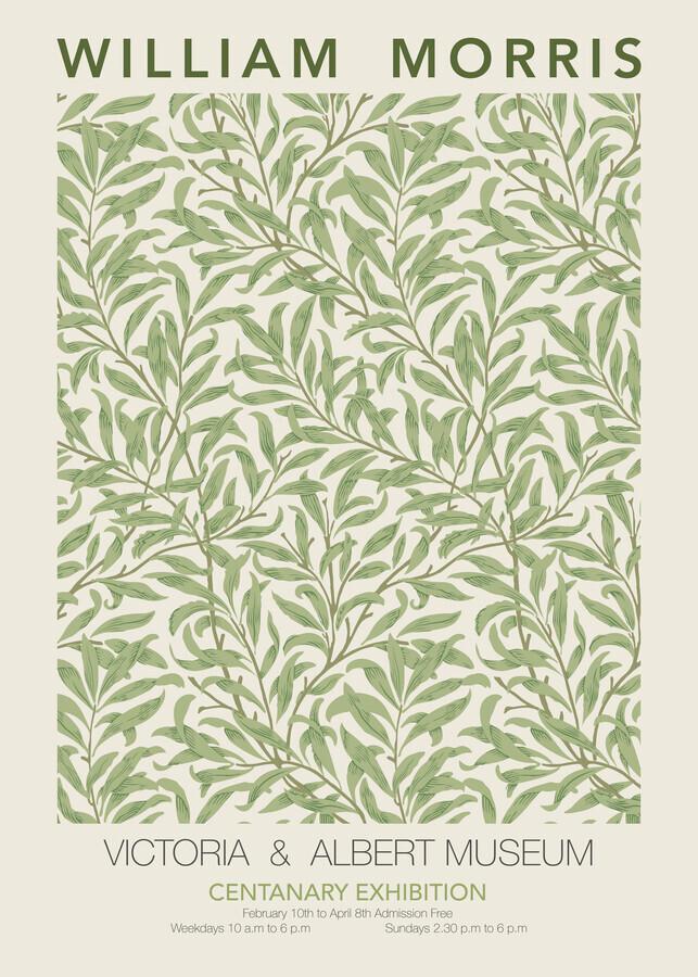 William Morris - grünes Blumenmuster - fotokunst von Art Classics