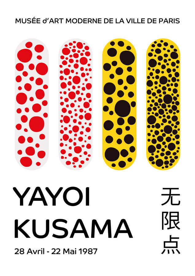 Yayoi Kusama, 1987 - Fineart photography by Art Classics