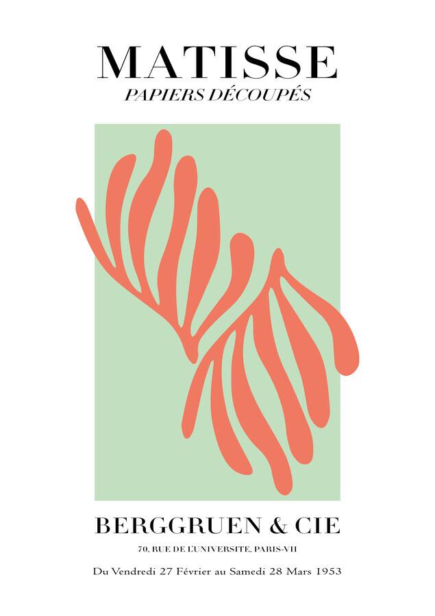 Matisse - Papiers Découpés, green and orange - Fineart photography by Art Classics