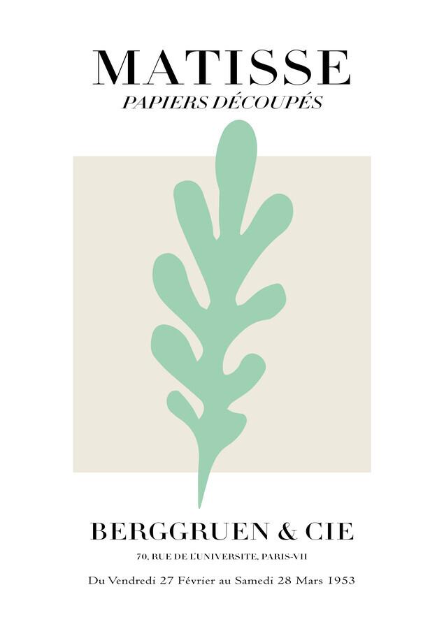 Matisse - Papiers Découpés, black and beige - Fineart photography by Art Classics