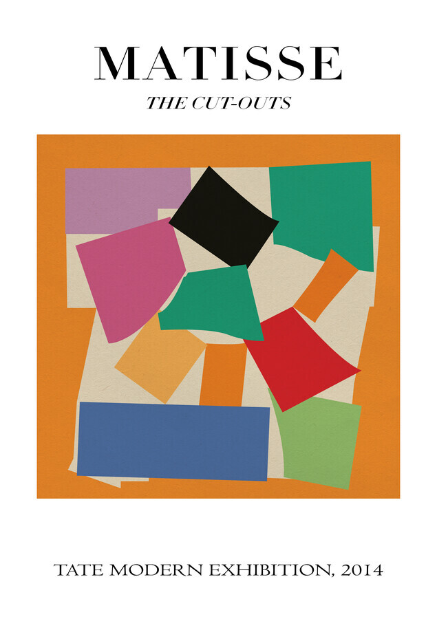 Matisse - The Cut-Outs, colorful design - Fineart photography by Art Classics